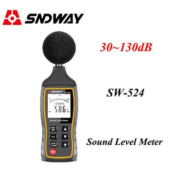 Sndway cyfrowy miernik poziomu dźwięku głośności hałasu przyrząd do pomiaru decybeli przyrząd pomiarowy do obserwacji 30-130dB dane usb do przechowywania Alarm tanie i dobre opinie SW-524 30 ~ 130dB 30 ~ 130dB (dB) +1 5 dB A 31 5Hz ~ 8 5kHz Fast 0 - 40 degrees 10 - 80 RH -10~60C 10~70 RH