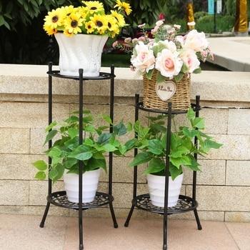 Art Flower Rack Balcony To Ground Green Luo Chlorophytum Meaty Flowerpot Frame European Style A Living Room Indoor Flower Airs