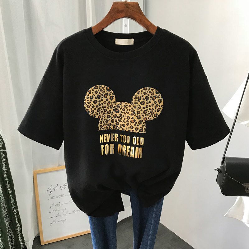 S-3XL Plus Size 22 Colors Summer T Shirt Women Fashion Print Cartoon Mouse Harajuku Female T-Shirts 2020 New Casual TShirt Tops