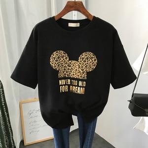 S-3XL Plus Size 22 Colors Summer T Shirt Women Fashion Print Cartoon Mouse Harajuku Female T-Shirts 2020 New Casual TShirt Tops(China)