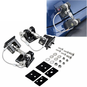 Hood Catch Lock Latch Bracket Holder Fit for 2007+Jeep Wrangler JK JL Unlimited