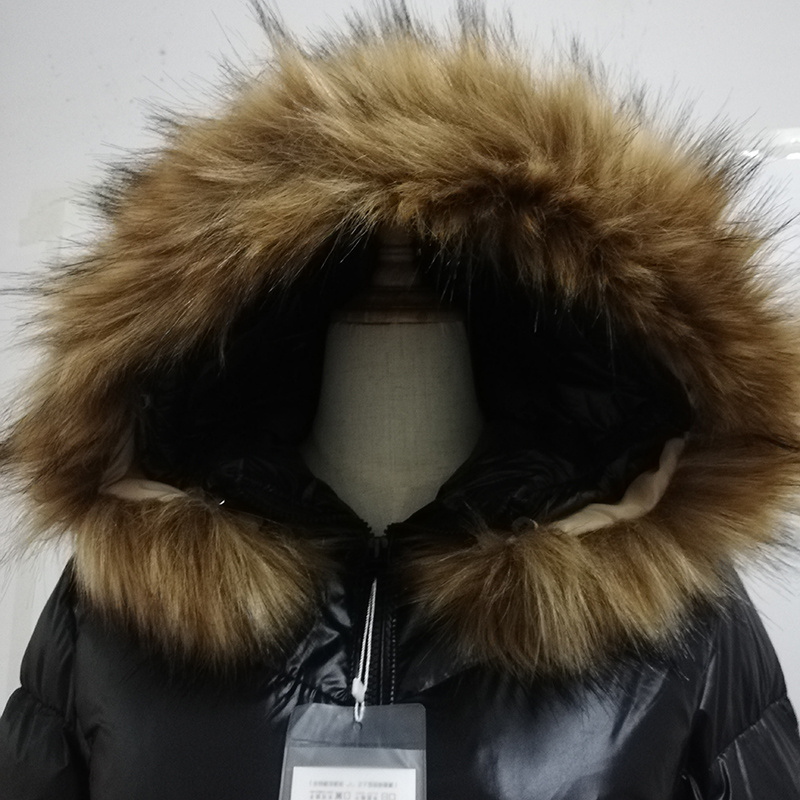 Image 5 - Sanishroly New Winter Women Big Fur Collar Hooded Coat Thicken White Duck Down Jacket Parka Female Long Outerwear Plus Size S412-in Down Coats from Women's Clothing