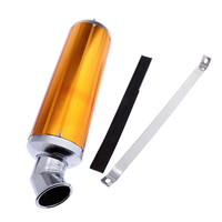 MagiDeal 120mm Golden Alloy Exhaust Muffler Pipe Rear Section for Motorcycle
