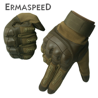 1 Pair Motorcycle Gloves Leather Tactical Military Full Finger Motocross Enduro Cycling Racing Riding Gloves for Dirt Bike Sport 1