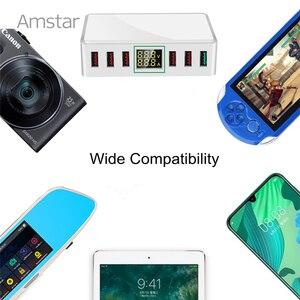Image 5 - Amstar 40W מהיר תשלום 3.0 USB מטען מתאם 6 יציאות Led תצוגת QC3.0 USB טלפון מטען עבור iPhone סמסונג Huawei Xiaomi