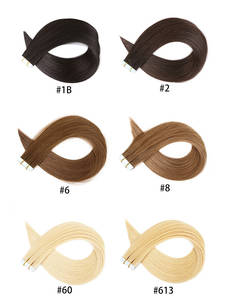 613 Tape-In Extensions Adhesive Hair-Remy Real-Hair Natural Clearance-Sale Skin Straight