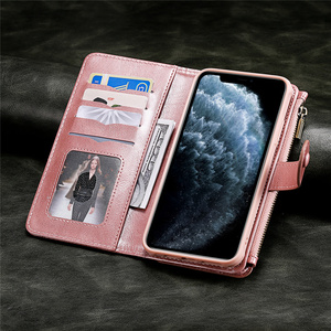 Image 3 - Luxury Leather Flip Card Case For iPhone 12 Mini 11 Pro Max X XS XR 6 6s 7 8 Plus Removable Wallet Car Magnetic Phone Cover Bags