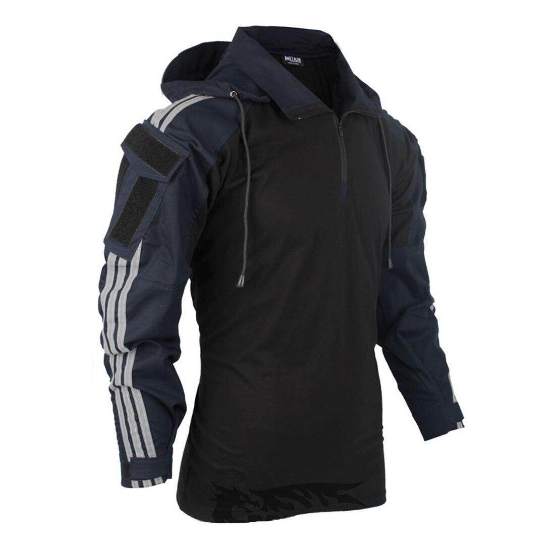 BACRAFT Long Sleeve Tactical Shirt - Dark Blue XS/S/M/L/XL/XXL