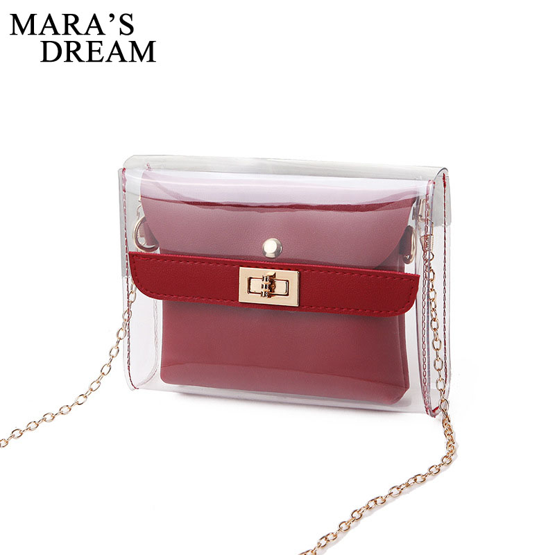 Mara's Dream 2019 Women PVC Clear Satchel Bag Fashion Transparent Shoulder Crossbody Bags Ladies Messenger Casual Small Handbags