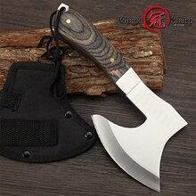 Knife Camping Axe Hatchet Hand-Fire Hunting-Tomahawk Survival Stainless-Steel GRANDSHARP