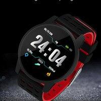 2019 새로운 스포츠 남성 여성 스마트 시계 피트니스 트래커 보수계 혈압 심장 박동 혈액 oxy 모니터 Smartwatch
