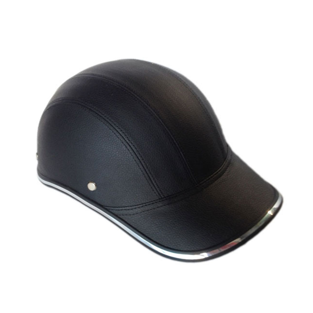 Helmet Outdoor Safety Half Open Face Motorcycle Baseball Cap Protective Adjustable ABS+PU Cycling