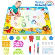 Tapis de coloriage à leau de grande taille 110x78cm, tapis décriture pour peinture, Doodle avec stylo magique, jouets éducatifs pour enfants, cadeau