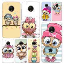 Cute Owl Hearts Lover Christmas Phone Case Cover For Motorola Moto G8 G7 G6 G5 G5S G4 E6 E5 E4 Power Plus Play One Action Macro(China)