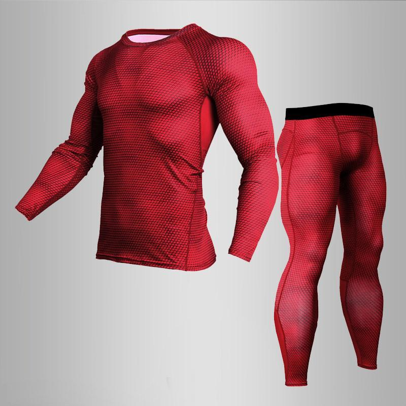 Thermo Underwear Xxxxl Men's Full Suit Tracksuit Compression Clothing Base Layer Sport Underwear Set Rashgard Male Tights Shirt