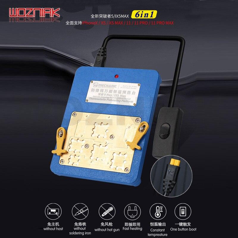 Mechanik ix5 Max dla IPHONE X XS XSMAX 11 PRO MAX płyta główna układ warstwowy CPU usuń stół termostatyczny podgrzewania