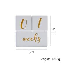 Wooden Baby Month Milestone Card Newborn Birth Month Birthday Milestone Wooden Teether Baby Kids Photography Props Toy cheap Unisex 0-6m 7-12m CN(Origin)