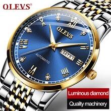Montre Homme Olevs Top Brand Mechanische Heren Horloge Luxe Horloges Mannen Mechanisch Horloge Mannen Lunnette Man Ciga