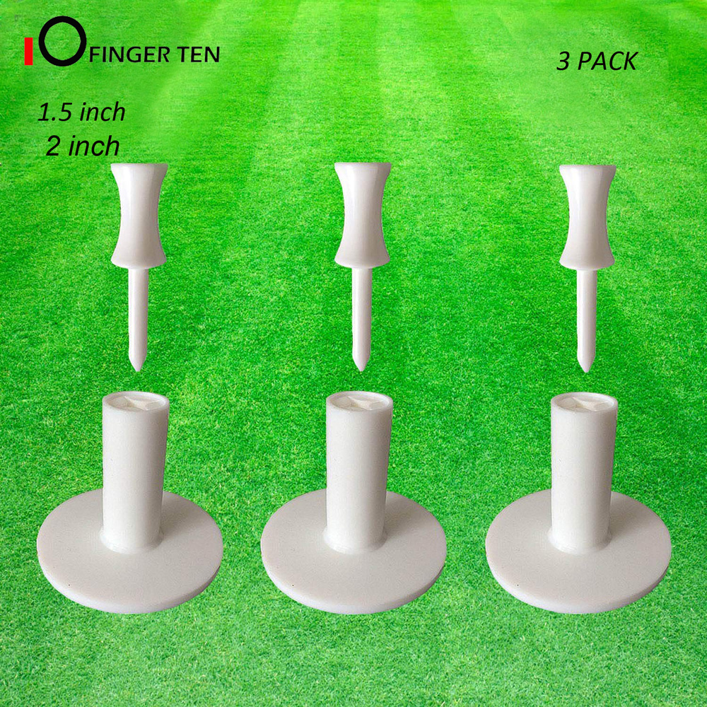 Driving Range Mat Ball Holder Rubber Golf Tees Rubber Value 3 Pack Size 1.5
