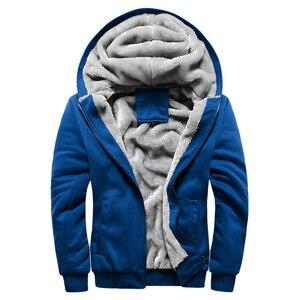 Image 2 - Kış erkek kalınlaşmak polar Hoodies sıcak tişörtü katı spor fermuarlı kapüşonlu kıyafet erkekler kapşonlu dış giyim rahat rüzgarlık Tops
