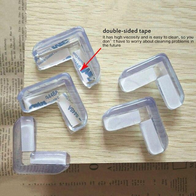 5 pcs Baby Safety Silicone Protector Table Corner Edge Protection Cover Children Anticollision Edge Child Corner Guards 3