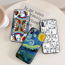 abstract art Silicone Phone Case for Samsung A3 A5 A7 A8 A9 2016 2017 2018 Cases for Samsung Galaxy SM-A520F Cover A70 A70s etui(China)
