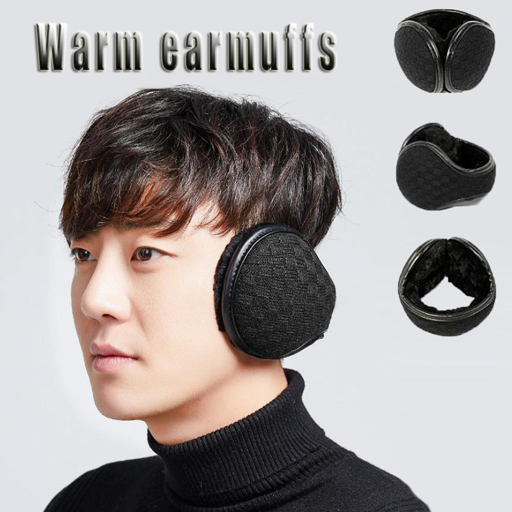Unisex Solid Color Ear Cover Protector Thicken Plush Soft Warm Earmuff