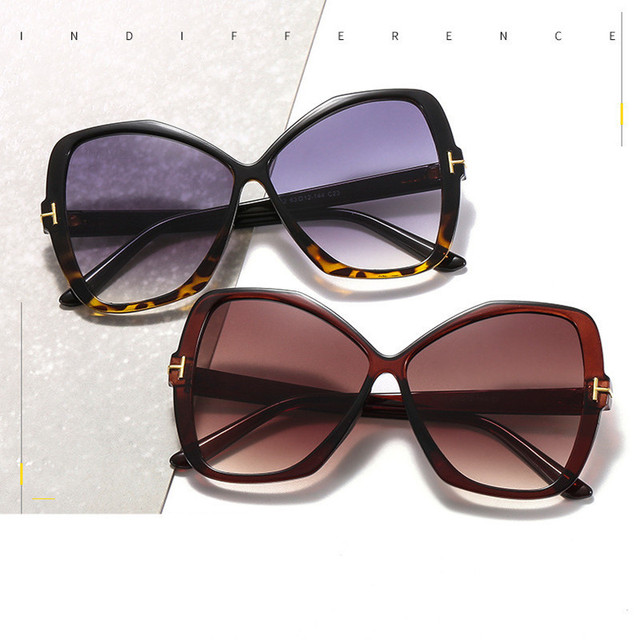 Lunettes de soleil classiques rétro dames | Design tendance, irrégulier grande boîte, lunettes de soleil de luxe