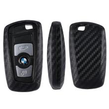 For Bmw 1 3 5 7 Series X1 X3 X4 X5 X6 M3 M5 Z4 F20 F30 F10 E90 E60 E30 Car key Shell Protecor Car Key Case Cover Carbon Fiber cocolockey silicone key cover case for bmw x1 x3 x4 x5 x6 3 5 4 7 series e87 f20 e90 e92 e93 smart remote car key wallet