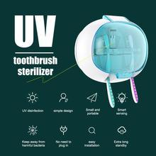 Toothbrush Sterilizer UV-C Bathroom Fashion Disinfection ABS+PC Blue Uv Business Lights Home Storage