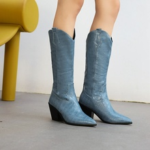 new arrival winter women shoes Mid-Calf boots women boots Fashion boots western female boots sexy snow boots Size 34-48
