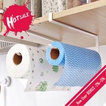 Küche Papier Halter Sticke Rack Eisen Rolle Halter für Bad Wc Handtuch Racks Kleiderbügel Home Storage Tissue Regal Veranstalter
