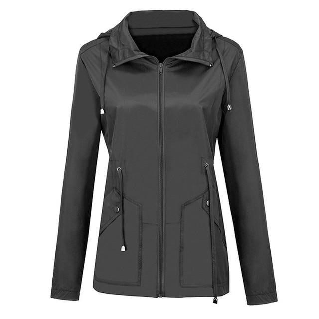 Coats And Jackets Women Waterproof Lightweight Rain Jacket Detachable Hooded Coat Plus Size Casual Jacket Oversize Women Fashion