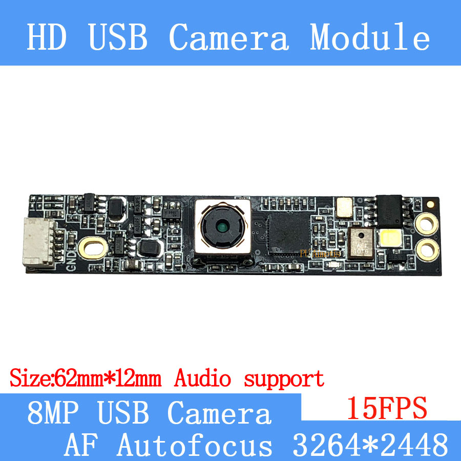 15FPS UVC USB camera module 800W <font><b>SONY</b></font> <font><b>IMX179</b></font> AF Autofocus HD face recognition camera support audio image