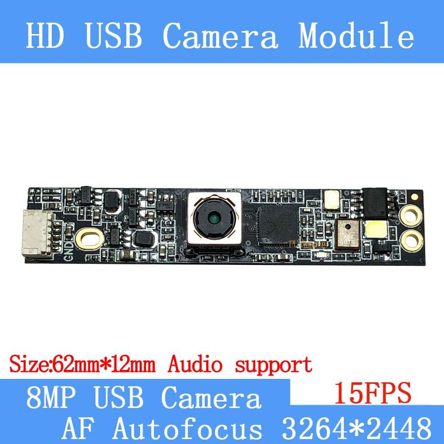 Module de caméra USB UVC 800W | 15FPS, Autofocus AF SONY IMX179, reconnaissance faciale HD, caméra de prise en charge audio