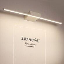 New Arrival Hot Black/White Led bathroom mirror lights Modern makeup dressing bathroom led mirror lamp 400/600/800/1000/1200mm