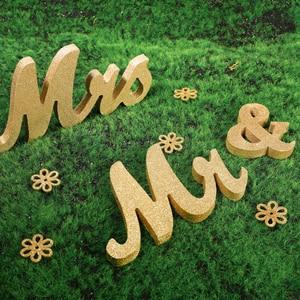 Image 2 - Houten Bruiloft Decoratie Letters Alfabet Woord Mr & Mrs Vrijstaande Wedding Party Decoratie Vintage Tafel Centrepie Decor
