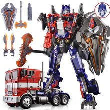 цены Transformers Hand Toy Toy Large Car Machine Model Optimus Prime Megatron Autobot Toy Gift Alloy Edition
