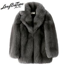 100 prawdziwi mężczyźni Fox zimowe futro naturalne płaszcz i kurtka New Arrival Manteau Homme Hiver 19292-2 KJ1424 tanie tanio Grube NONE Kieszenie Stałe REGULAR Skręcić w dół kołnierz Na co dzień Pojedyncze piersi Pełna real fur coat men