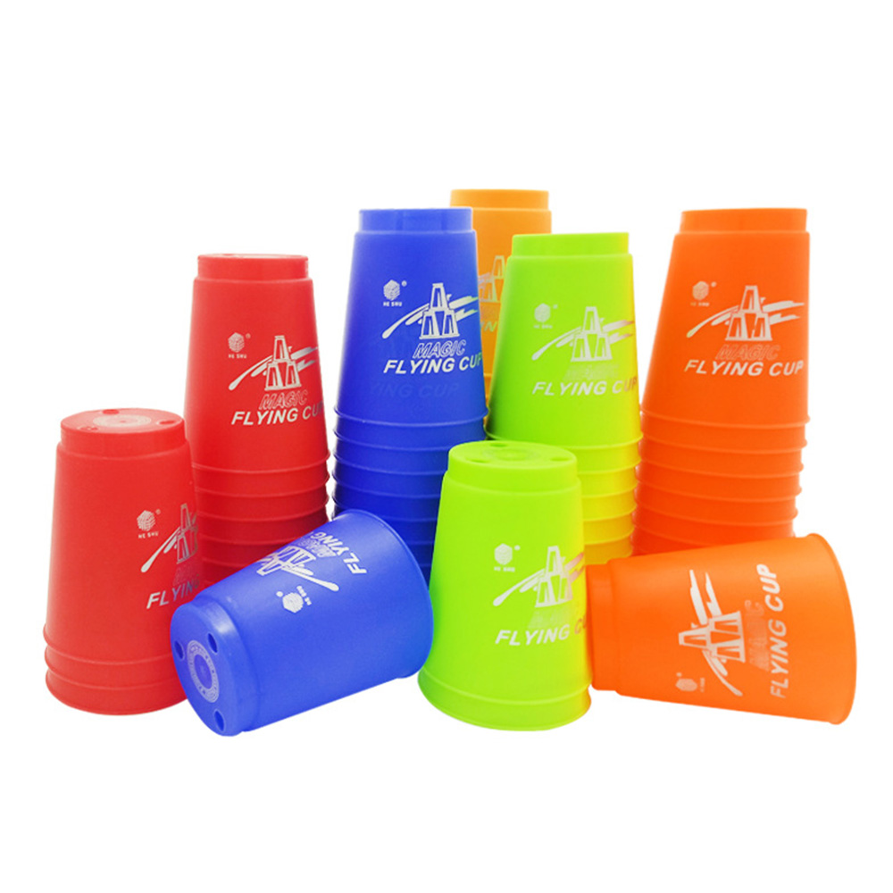 12Pcs/Set Speed Cups Game Rapid Game Sport Flying Stacking Holloween Christmas Gift Hand Speed Training Game High Quality
