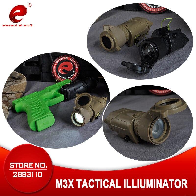 Element Airsoft L-3 guerrier systèmes armes lumière SF M3X tactique illuminateur US armée pistolet chasse lampe pistolet lampe de poche EX185