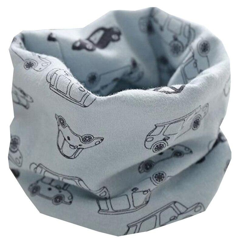 Новинка; сезон осень-зима; шарф из хлопка для девочек; Детский шарф; нагрудный шарф для мальчиков и девочек с круглым кольцом; милый детский шарф с воротником; Bufandas - Цвет: blue car