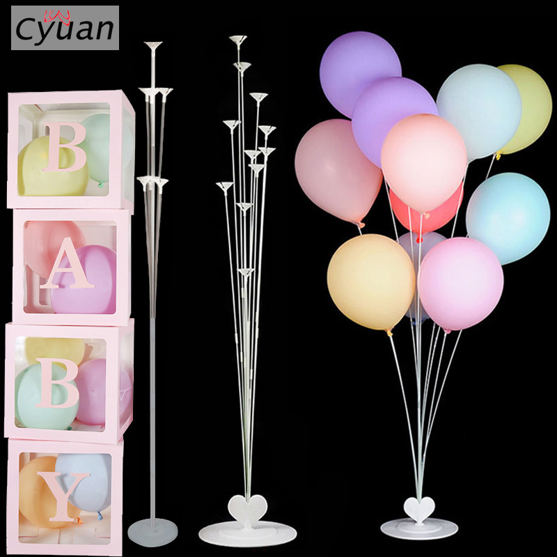 Transparent Balloons Holder Box Balloon Column Stand Baloon Holder <font><b>Support</b></font> for Baby Shower Birthday Party Decorations Supplies image