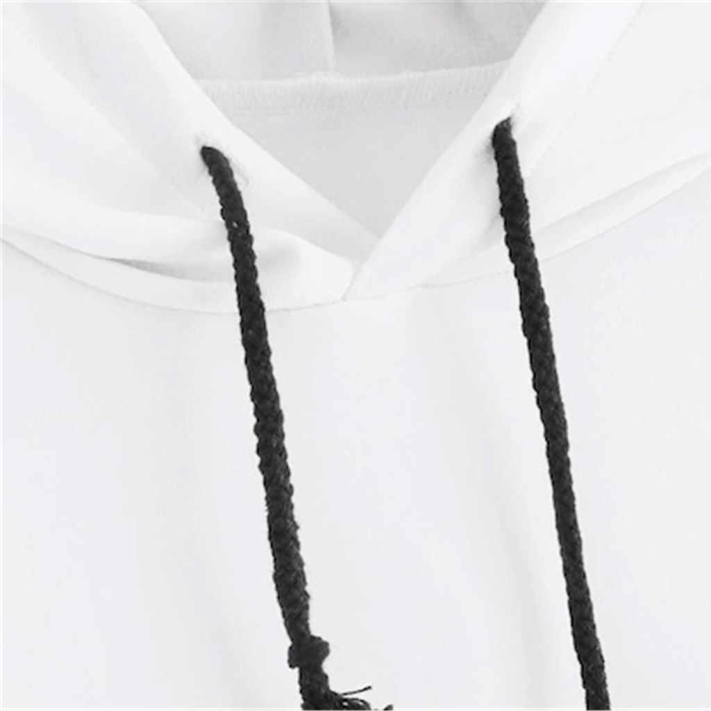 Phụ nữ In Hình Lá Phong Sọc Mũ Trùm Cổ Trụ Dài Tay Áo Oversize Áo Nữ Sportwear Chemisier Femme Nouvelle 20