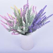 Kreative Gefälschte Blumen Künstliche Blumen Romantische Künstliche Blume Lavendel Bouquet Grüne Blätter Dekoration Für Home Party 2020