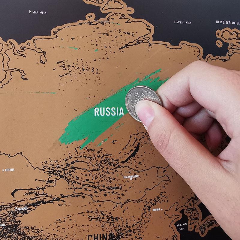 1 Pcs Scratch Map 420*300cm World Travel Map Erasable Creative Home Decoration Wall Stickers Colorful Decorative Map Mini