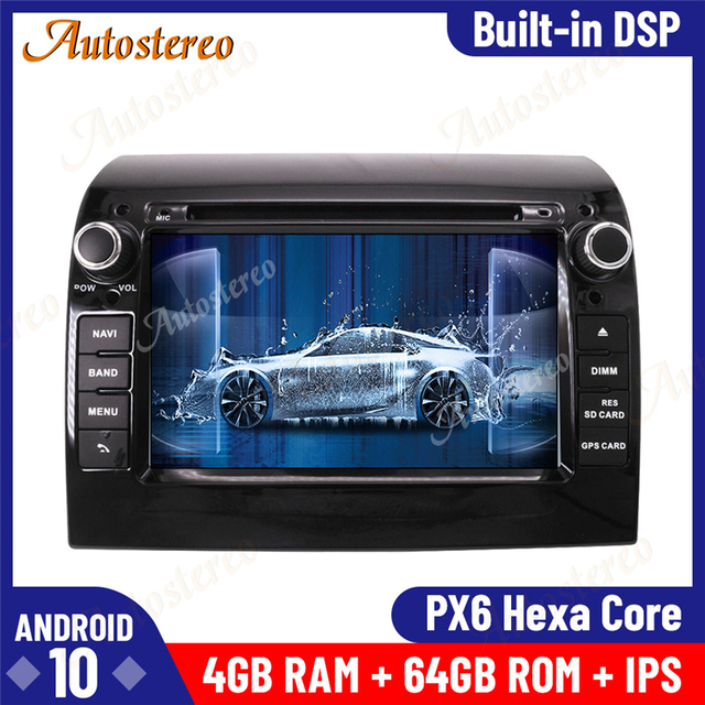 Android 10 4 + 64 ГБ Автомобильный Радио dvd-плеер GPS Мультимедиа Стерео для Fiat Ducato 2006-2019 Citroen Jumper Peugeot Boxer мультимедиа