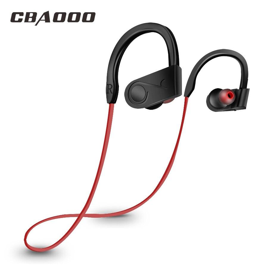 CBAOOO Wireless Bluetooth Earphone Headphones Ear-hook Waterproof Headsets Blutooth Sports Earphones With Mic Earbuds For Phone