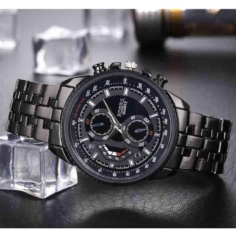 Men's Business Watch For Sale Men Sports Watches Fashion Rosra Brand Quartz Watch Black Stainless Steel Men's Watches Promotion