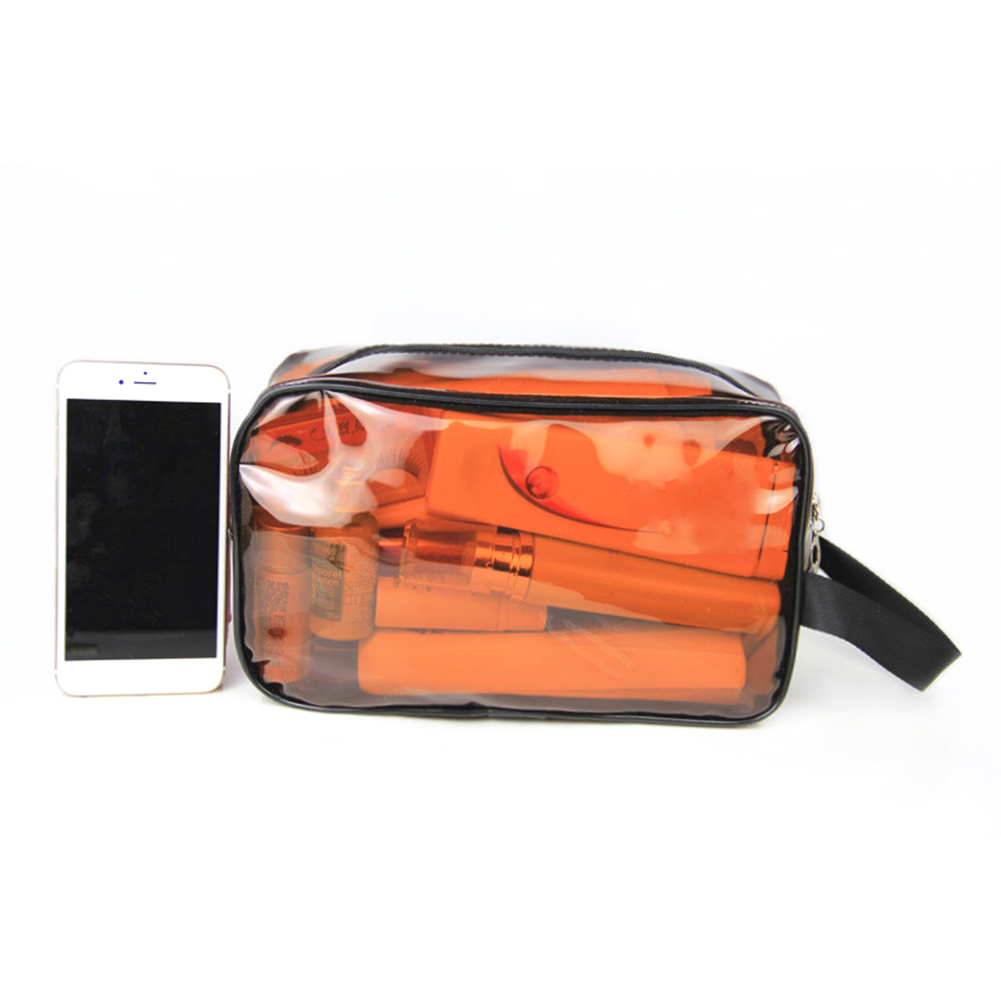Transparent PVC Cosmetic Bag Business Lightweight Zipper Closure Portable Waterproof Travel Case Toiletry Organizer Bathroom